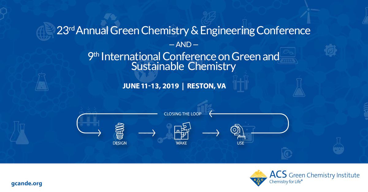 Technical Program Symposia   Green Chemistry & Engineering